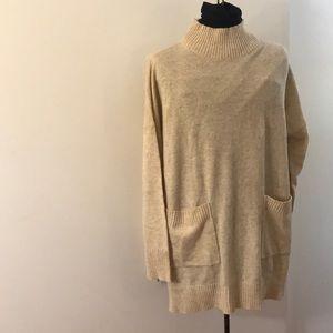 NWT!! Ann Taylor Peach cowl neck sweater. XL!